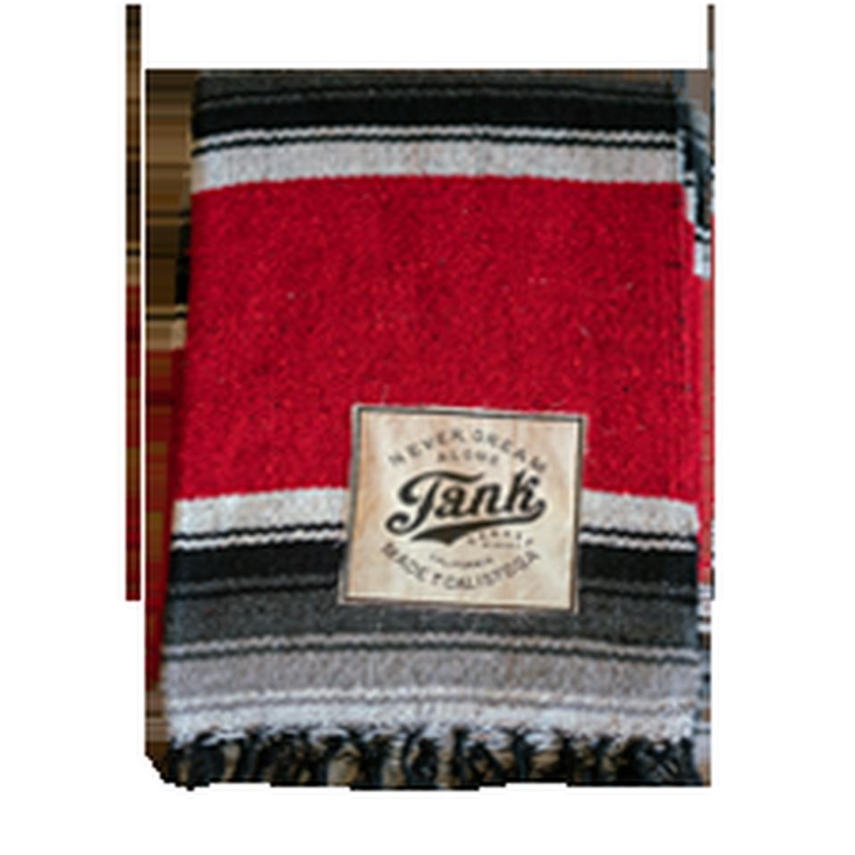 Baja Blanket Black and Red