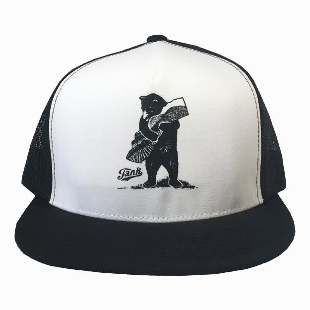 Bear Trucker Hat Black/White Image