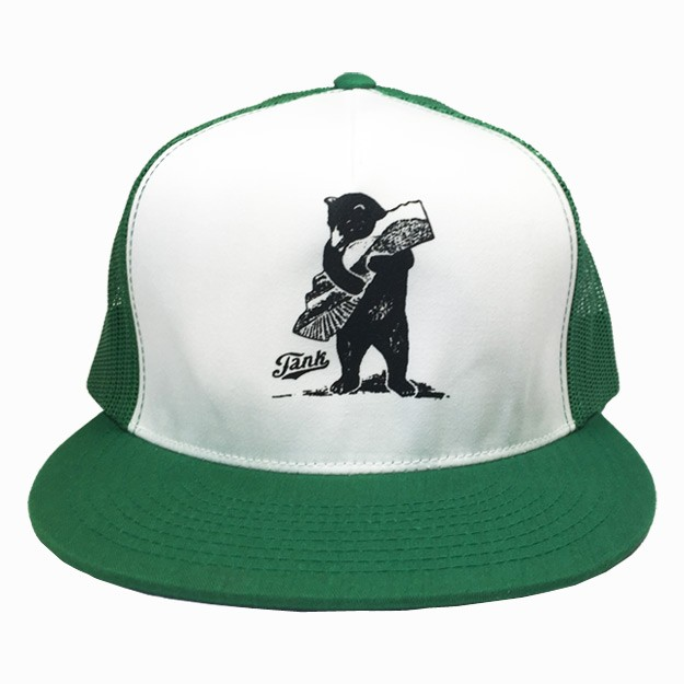 Bear Trucker Hat Green White Image 8009d8a783b