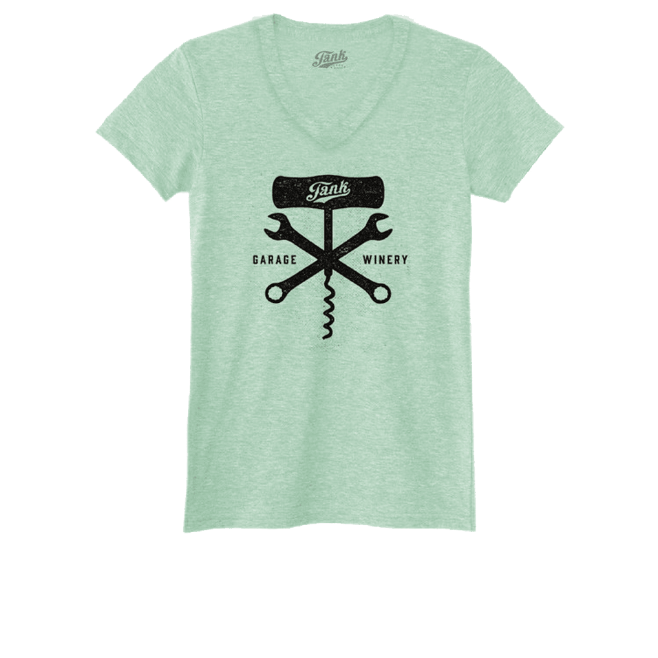 Corkscrew and Wrench Women's V-Neck Mint
