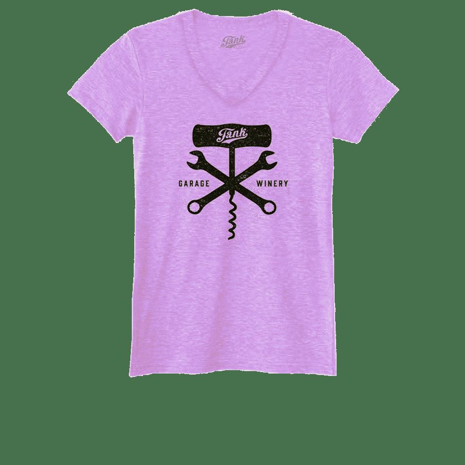 Corkscrew and Wrench Women's V-Neck Lavender