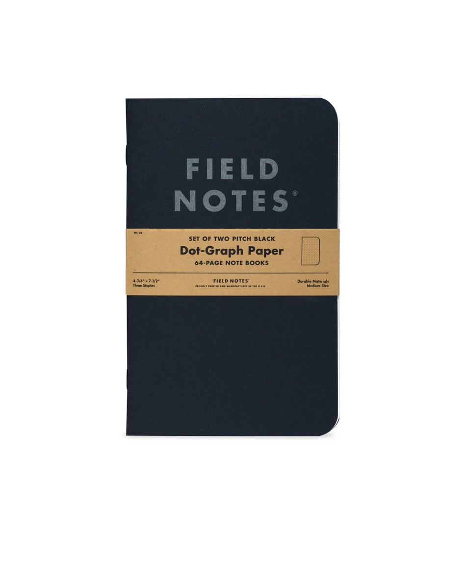 Field Note 2 Pack Black