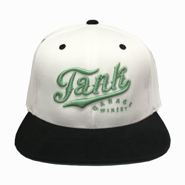 Flatbill Hat Cream/Black/Seafoam