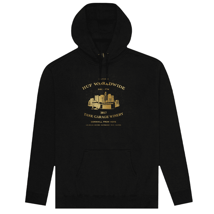 HUF Downhill From Here Hoodie Black Image