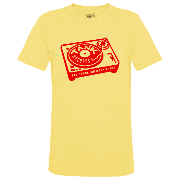 Tank Records T-Shirt Yellow