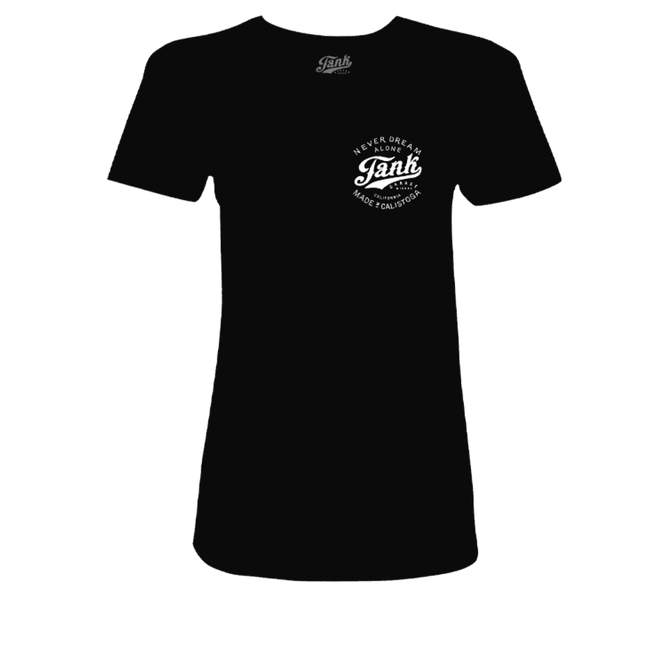 Tank Left Chest Organic Women's T-Shirt Black
