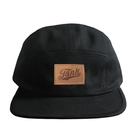 Patch 5-Panel Surf Hat Black