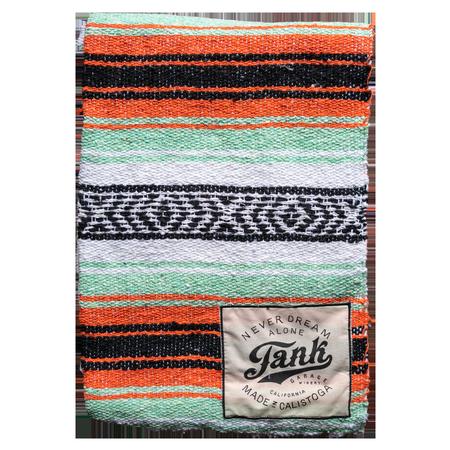 Baja Blanket Orange and Mint