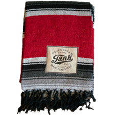 Baja Blanket Black and Red