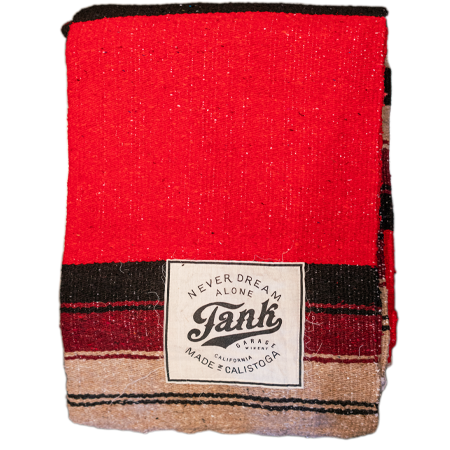 Baja Blanket Red & Tan