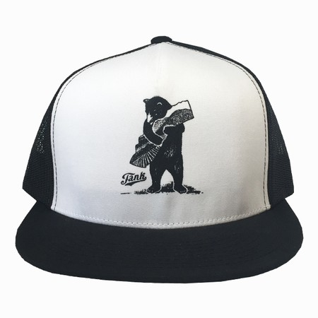 Bear Trucker Hat Black/White