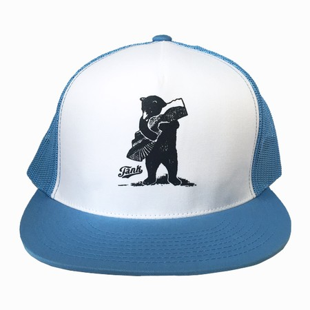 Bear Trucker Hat Blue/White