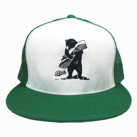 Bear Trucker Hat Green/White