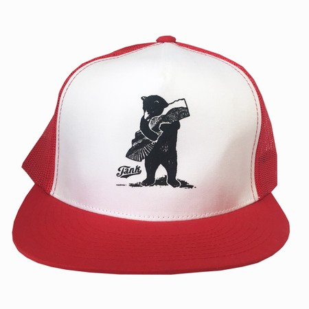 Bear Trucker Hat Red/White