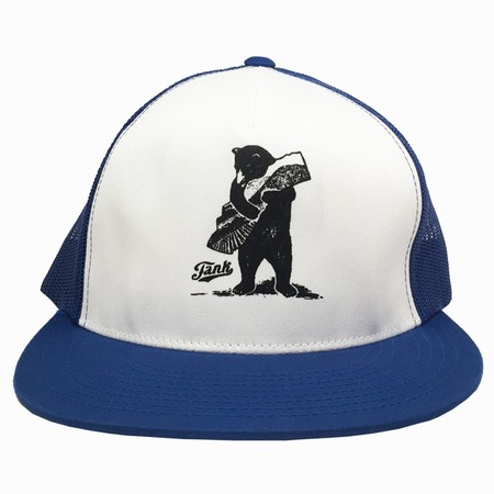Bear Trucker Hat Royal/White