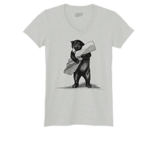 Bear Women's T-Shirt Heather Gray