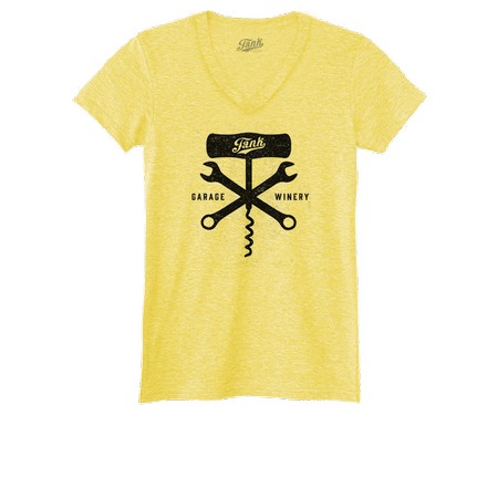 Corkscrew and Wrench Women's V-Neck Yellow