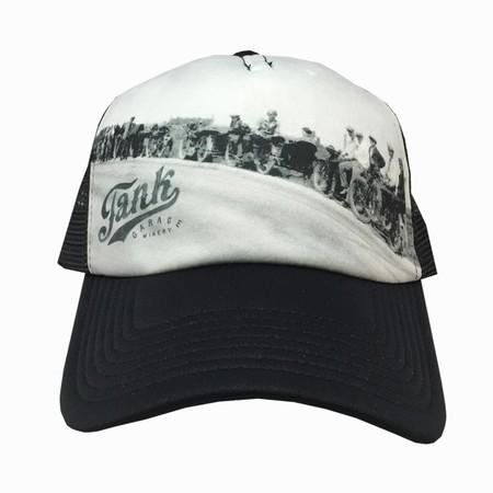 Motorcyle Trucker Hat Black/White