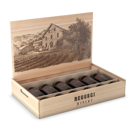 Wooden Box (6-Bottle)