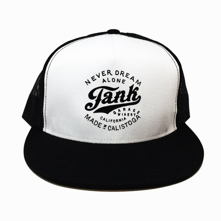 Screenprint Tank Logo Trucker Hat Black/White