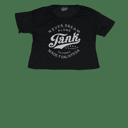 Tank Logo Women's Crop T-Shirt Black