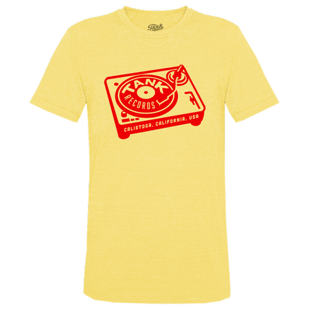 Tank Records T-Shirt Yellow