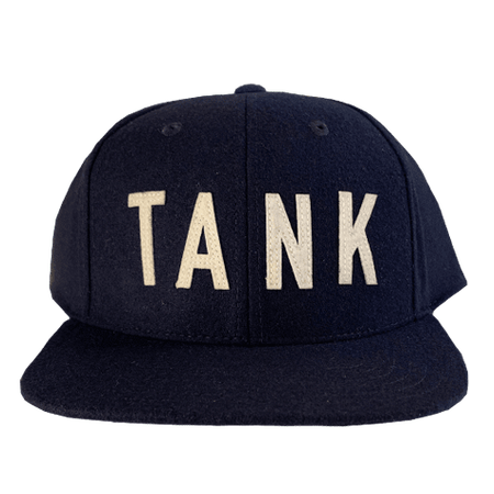 Wool Throwback Hat Navy